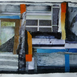 (CreativeWork) Stairs and Windows I by Nicole Phillips. mixed-media. Shop online at Bluethumb.