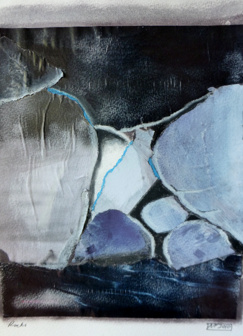 (CreativeWork) Rocks by Nicole Phillips. mixed-media. Shop online at Bluethumb.