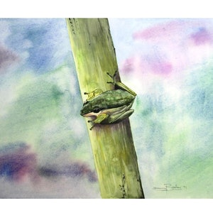 (CreativeWork) Thinking About It by Danny Bradley. watercolour. Shop online at Bluethumb.