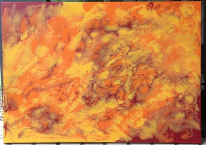 (CreativeWork) Warmth by Lauren Smith. arcylic-painting. Shop online at Bluethumb.