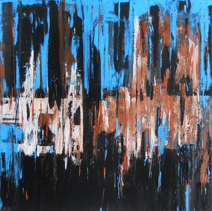 (CreativeWork) Abstract City by Glenn Launerts. arcylic-painting. Shop online at Bluethumb.