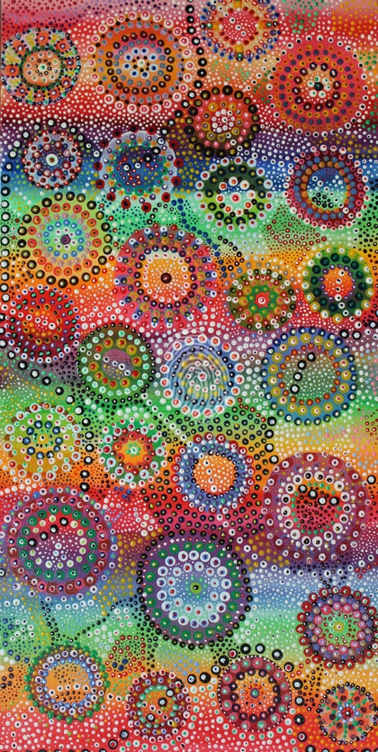 (CreativeWork) A Busy Journey  by Tina Hayward. arcylic-painting. Shop online at Bluethumb.
