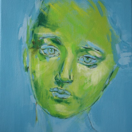 (CreativeWork) Camille by Tanya Pink. Acrylic Paint. Shop online at Bluethumb.