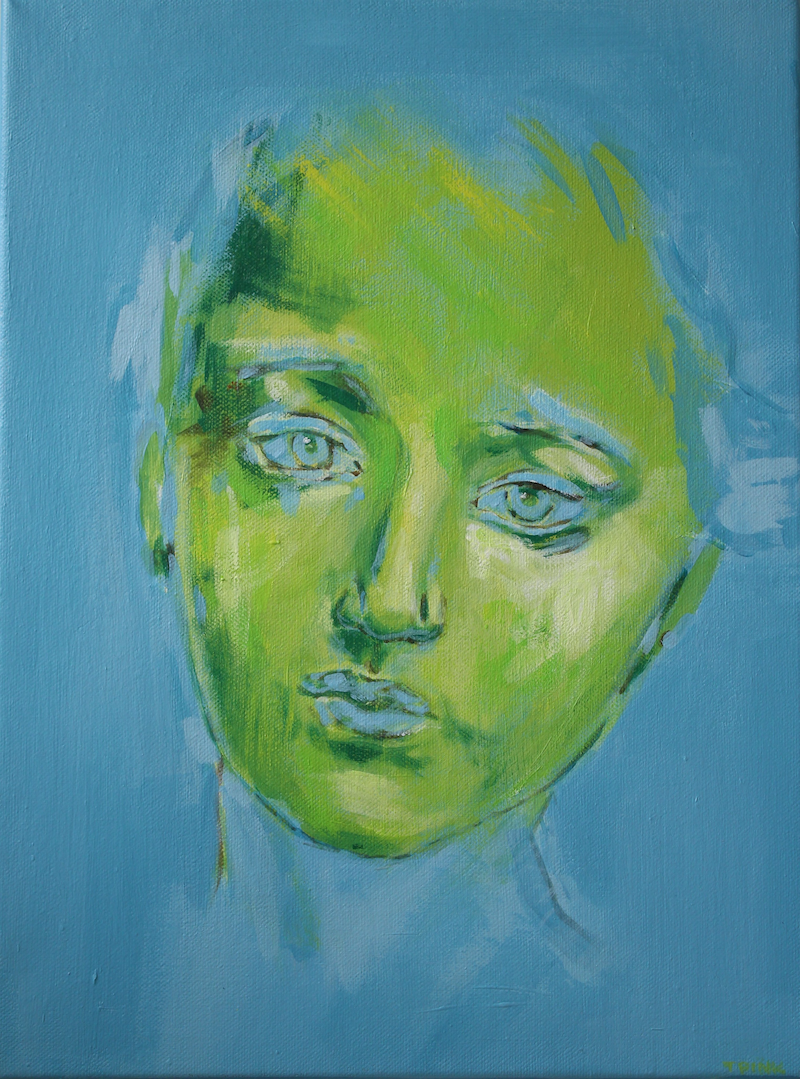 (CreativeWork) Camille by Tanya Pink. arcylic-painting. Shop online at Bluethumb.