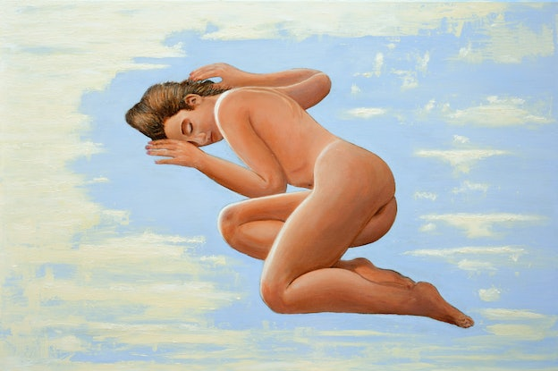 (CreativeWork) Dreaming Nude by Sergio  Paul Ianniello. Acrylic Paint. Shop online at Bluethumb.