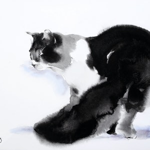 (CreativeWork) Cat Prowl by Soo Beng Lim. drawing. Shop online at Bluethumb.