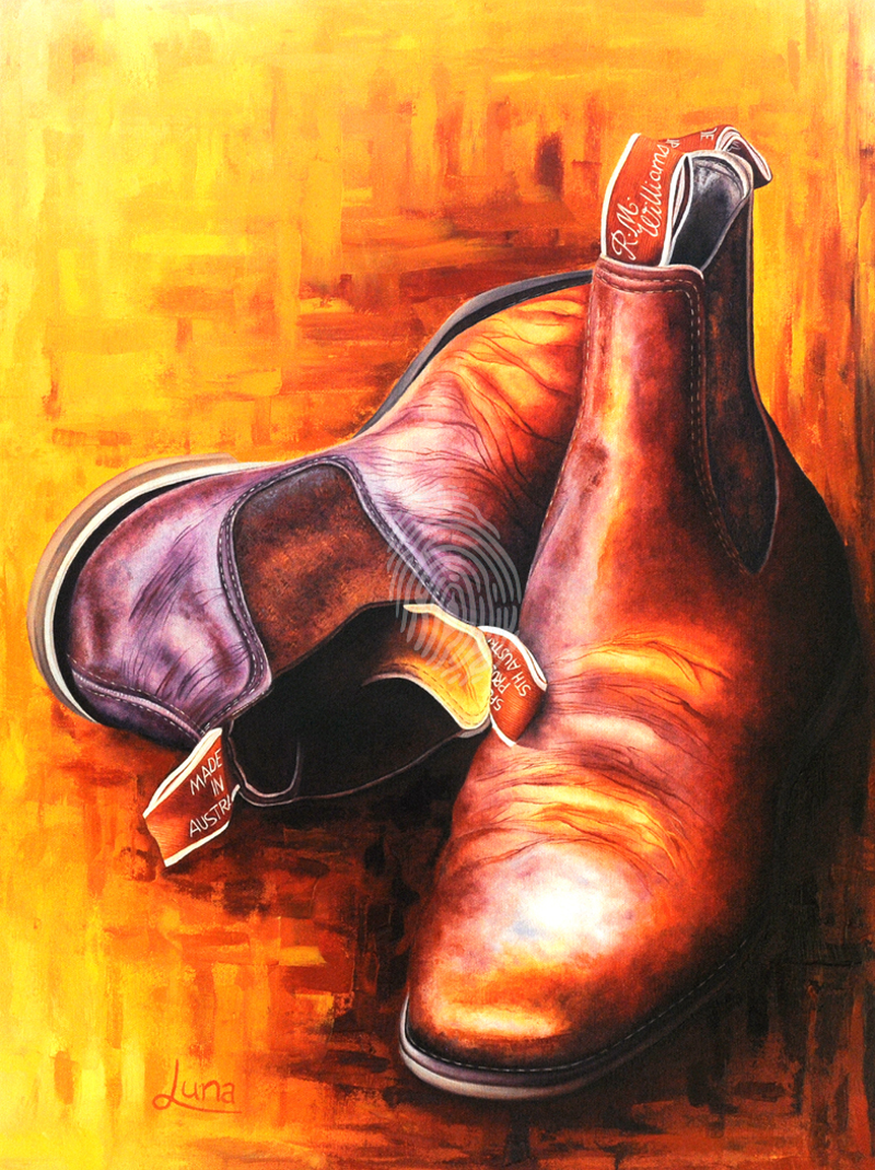 (CreativeWork) Drover's Best Mate by Luna Vermeulen. oil-painting. Shop online at Bluethumb.