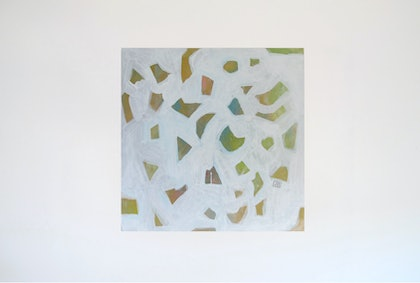 (CreativeWork) Moon Shapes by Jessica Knight Locke. arcylic-painting. Shop online at Bluethumb.