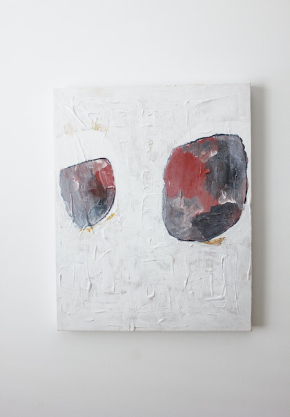 (CreativeWork) Stone by Kirsty Chisholm. arcylic-painting. Shop online at Bluethumb.