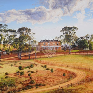 (CreativeWork) Drover's Run by Luna Vermeulen. oil-painting. Shop online at Bluethumb.