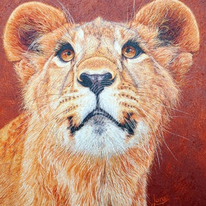 (CreativeWork) If Looks Could Kill by Luna Vermeulen. oil-painting. Shop online at Bluethumb.