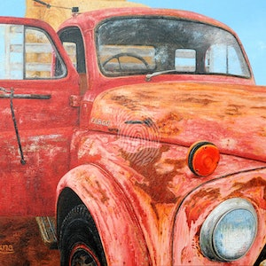 (CreativeWork) End Of The Road by Luna Vermeulen. oil-painting. Shop online at Bluethumb.