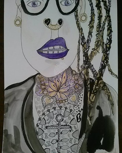 (CreativeWork) Lil Guz by Zazie Manson. mixed-media. Shop online at Bluethumb.