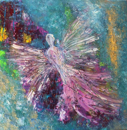 (CreativeWork) The Angel  by Tina Hayward. oil-painting. Shop online at Bluethumb.