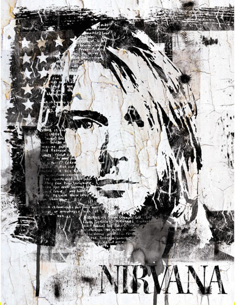 Streetart Portrait of Kurt Cobain by INDO The Artist. Paintings for ...