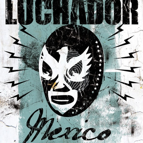 (CreativeWork) Luchador el mexicano Wrestler by Patrick Indo. Print. Shop online at Bluethumb.