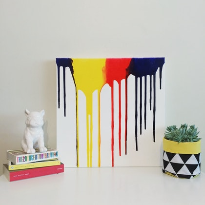 (CreativeWork) Drips by Fox Kit and Cub. arcylic-painting. Shop online at Bluethumb.