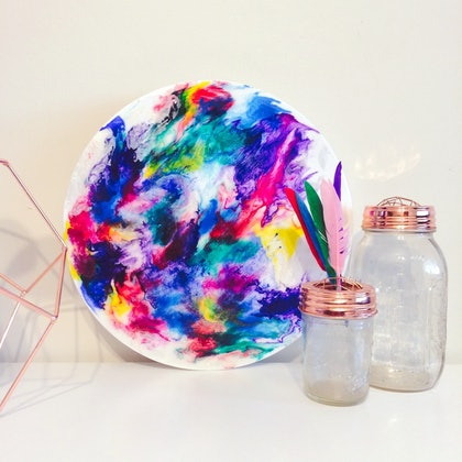 (CreativeWork) Deconstructed Rainbow by Fox Kit and Cub. arcylic-painting. Shop online at Bluethumb.