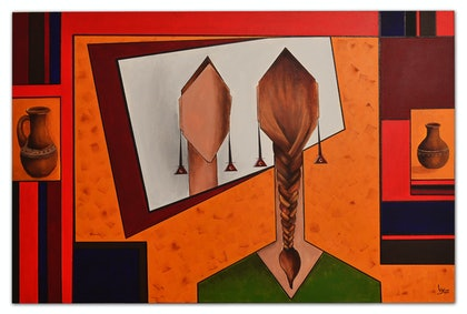 (CreativeWork) Reflection by Sonia Sharjeel. arcylic-painting. Shop online at Bluethumb.