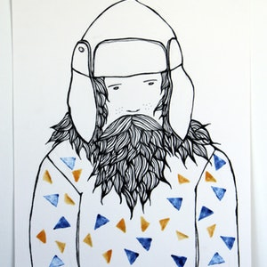 (CreativeWork) Sailor by Tina Mose. drawing. Shop online at Bluethumb.