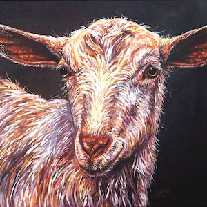 (CreativeWork) Billy The Kid by Luna Vermeulen. oil-painting. Shop online at Bluethumb.