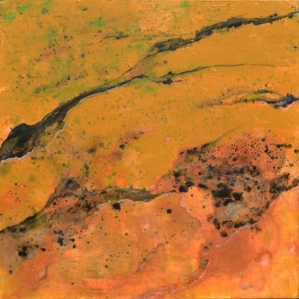 (CreativeWork) Landscape top view  by Ben Alvarado. oil-painting. Shop online at Bluethumb.