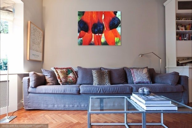 (CreativeWork) Fireworks by Luna Vermeulen. Oil Paint. Shop online at Bluethumb.
