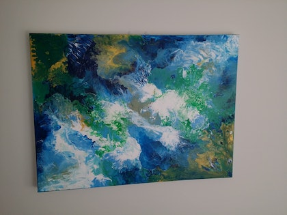 (CreativeWork) Abstract 1 by N Caygill. arcylic-painting. Shop online at Bluethumb.