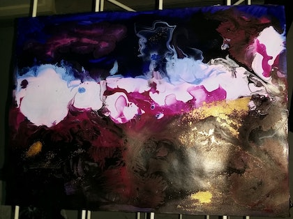(CreativeWork) Abstract 3 by N Caygill. arcylic-painting. Shop online at Bluethumb.