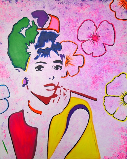 (CreativeWork) I am Colour by Sacha Whitehead. arcylic-painting. Shop online at Bluethumb.