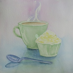 (CreativeWork) Me Time 2016 by Di Cox. watercolour. Shop online at Bluethumb.