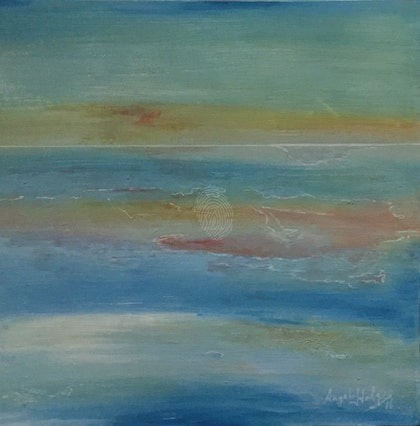 (CreativeWork) The Calm by Angela Halge. arcylic-painting. Shop online at Bluethumb.