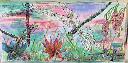 (CreativeWork) Flutter by by Linda Jones. arcylic-painting. Shop online at Bluethumb.