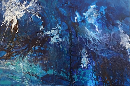 (CreativeWork) The Labyrinth  by Angela Halge. mixed-media. Shop online at Bluethumb.