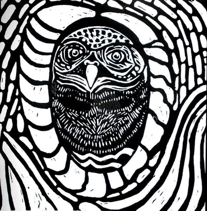 """(CreativeWork) Lino Cut Print : """"'Nuclei' ...  by Robyn Nelson. print. Shop online at Bluethumb."""