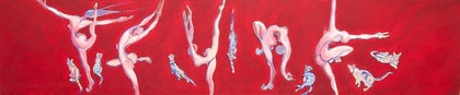 (CreativeWork) Dance111 by Lisa Paris. oil-painting. Shop online at Bluethumb.