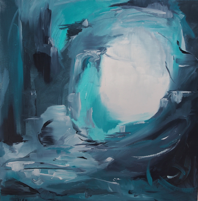 (CreativeWork) Ocean dreaming by Lauren Danger. arcylic-painting. Shop online at Bluethumb.