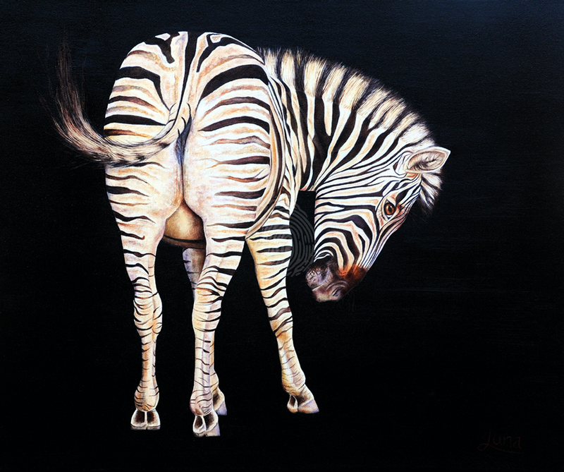 (CreativeWork) Sweet Cheeks by Luna Vermeulen. oil-painting. Shop online at Bluethumb.
