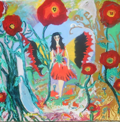 (CreativeWork) faery terra nullius by Louise Tyler. arcylic-painting. Shop online at Bluethumb.