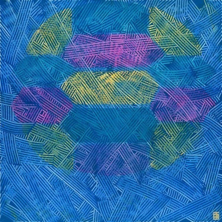 (CreativeWork) Turtle 1 by Trent Blucher. arcylic-painting. Shop online at Bluethumb.
