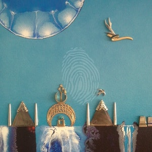 (CreativeWork) Water Castles by Rainer Kozik. mixed-media. Shop online at Bluethumb.