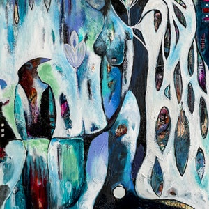 """(CreativeWork) """"Reflections"""" by Jayne Rolinson. arcylic-painting. Shop online at Bluethumb."""