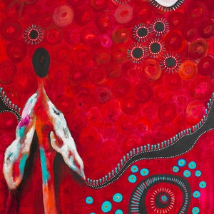"""(CreativeWork) """"Planting Seeds for our Future"""" by Jayne Rolinson. arcylic-painting. Shop online at Bluethumb."""