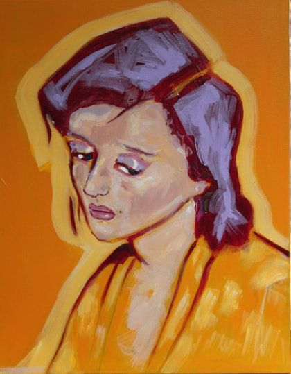 (CreativeWork) Diana in the Morning by Tanya Pink. arcylic-painting. Shop online at Bluethumb.