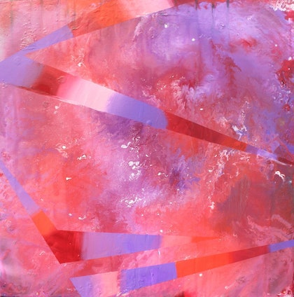 (CreativeWork) Cherry Swirl by Pip Montier. arcylic-painting. Shop online at Bluethumb.