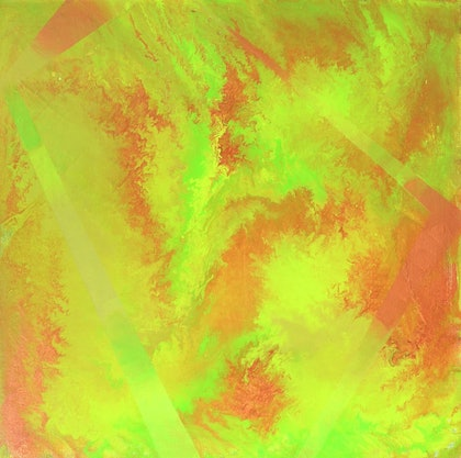 (CreativeWork) Citric Fate by Pip Montier. arcylic-painting. Shop online at Bluethumb.