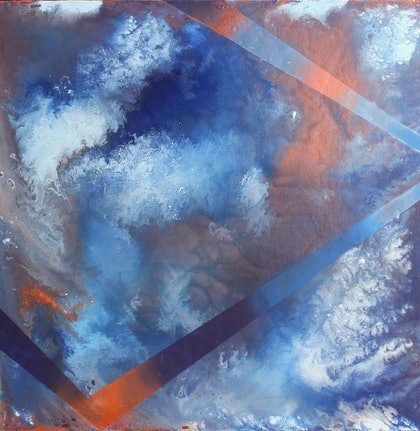(CreativeWork) Storm Jetty by Pip Montier. arcylic-painting. Shop online at Bluethumb.