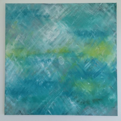 (CreativeWork) Reflections of Summer by Ceri Foster. arcylic-painting. Shop online at Bluethumb.