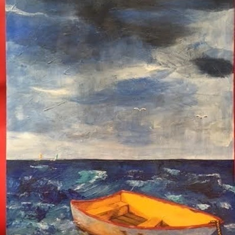 (CreativeWork) Stormy Sea by Kay H Bowman. Acrylic Paint. Shop online at Bluethumb.