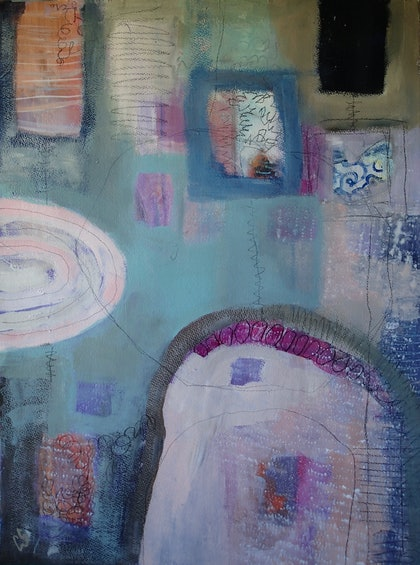 (CreativeWork) Ancient Dreams by Christine Scurr. arcylic-painting. Shop online at Bluethumb.